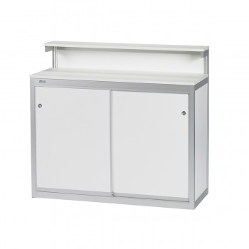 Bar and information counter Novo, white