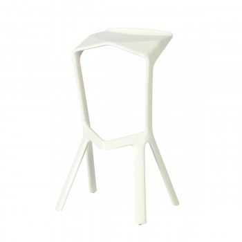 Bar Stool Miura, grey white