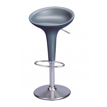 Bar Stool Bombo, silver grey