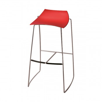 Bar Stool Hoop, red