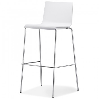 Bar Stool Kuadra, white
