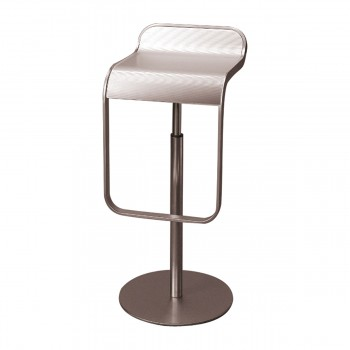 Bar Stool Lem, alu silver
