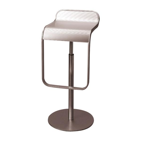 Remarkable Bar Stool Lem Alu Silver Chairs Expo Mietmobel Theyellowbook Wood Chair Design Ideas Theyellowbookinfo
