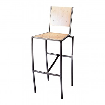 Bar Stool Pico, natural wood