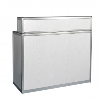 Bar and information counter, grey