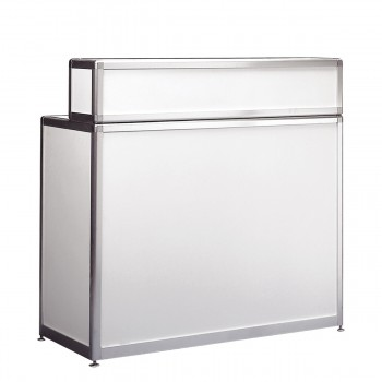 Bar and information counter, white