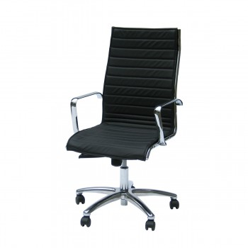Swivel Armchair Blackline, black