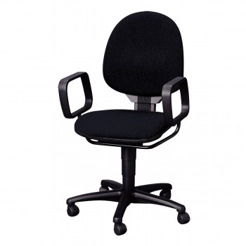 Swivel Chair with armrests, black