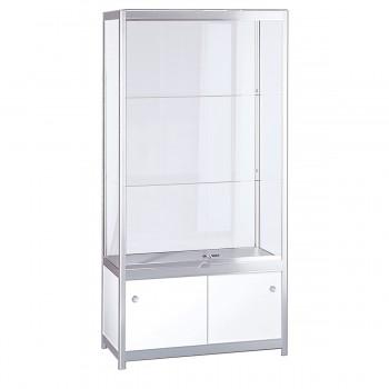 Showcase with cabinet base