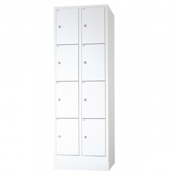 Safety cupboard, 8 boxes, grey