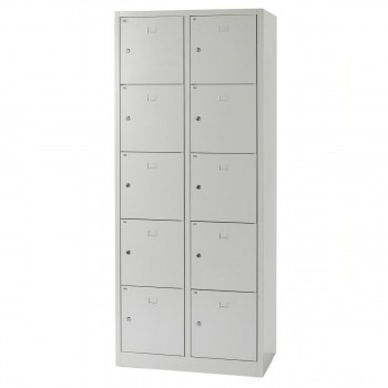Safety cupboard, 10 boxes, grey