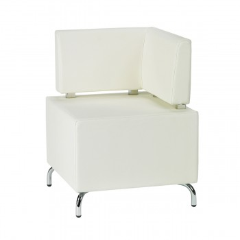 Seating-Element Multi III (corner), white