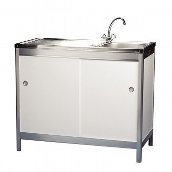 Sink with hot water unit