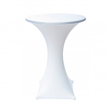 Standing Table with stretch cover, white