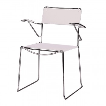 Chair Arlo with armrests, grey