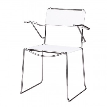 Chair Arlo with armrests, white