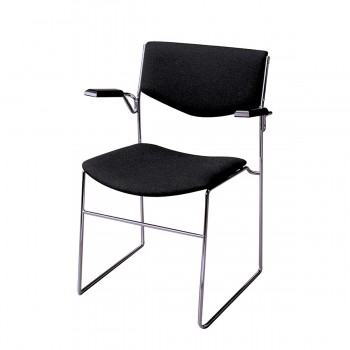 Chair Bono with armrests, black