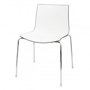 Stuhl Catifa, weiß-schwarz