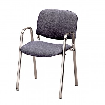 Chair Dublin with armrests, anthracite