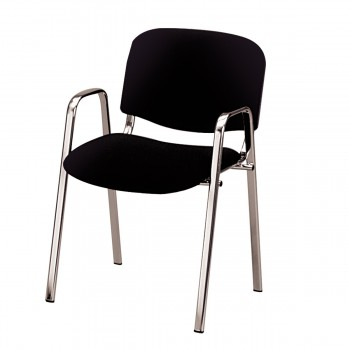 Chair Dublin with armrests, black